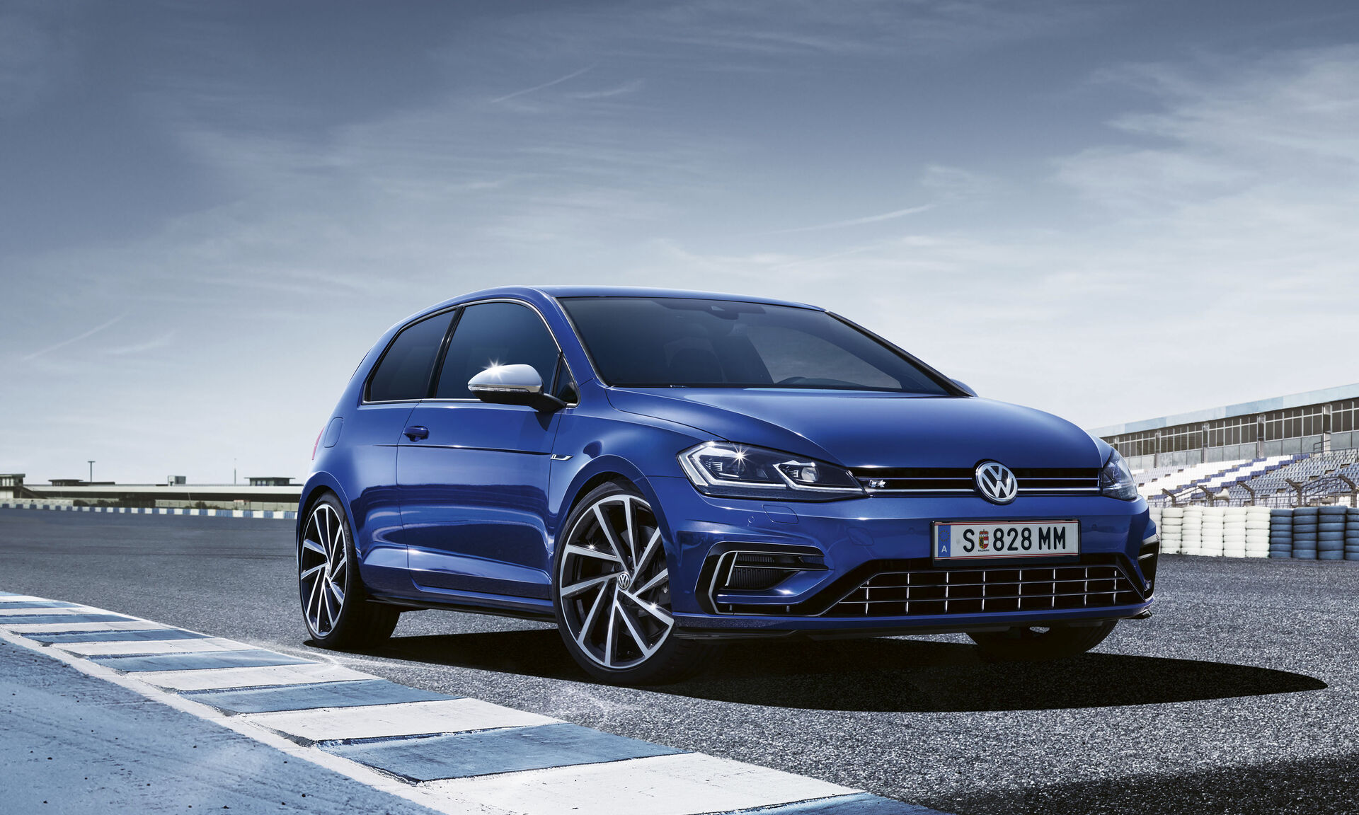 vw golf r blau lapiz blue