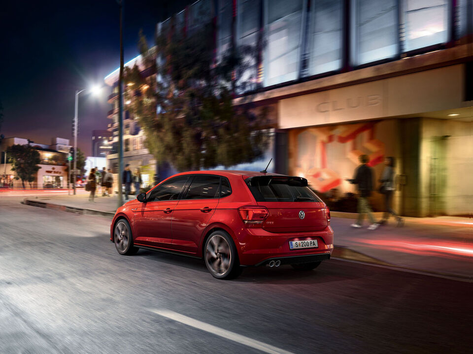 vw volkswagen polo gti rot heck seite